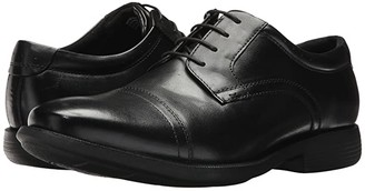 Nunn Bush Dixon Cap Toe Oxford with KORE Walking Comfort Technology (Black) Men's Shoes