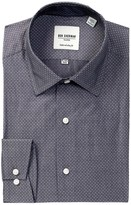 Ben Sherman Long Sleeve Slim Fit Diamond Dobby Dress Shirt