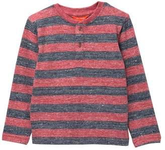 Joe Fresh Striped Henley Long Sleeve Top (Toddler & Little Boys)