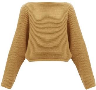 Petar Petrov Katja Boatneck Chunky-knit Cashmere Sweater - Camel
