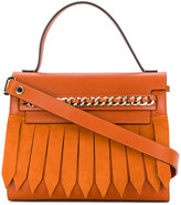 Casadei chain-trimmed tote bag - women - Calf Leather/Polyester/Calf Suede - One Size