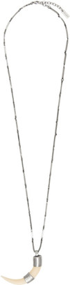 Saint Laurent Silver Corne Necklace