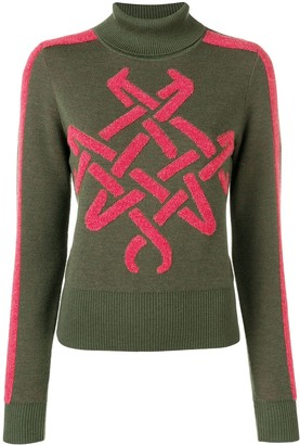 Mr & Mrs Italy Embroidered Roll Neck Jumper