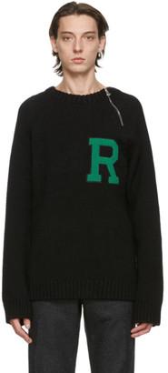 Raf Simons Black Letter Badge Sweater