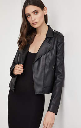 BCBGMAXAZRIA Faux Leather Moto Jacket