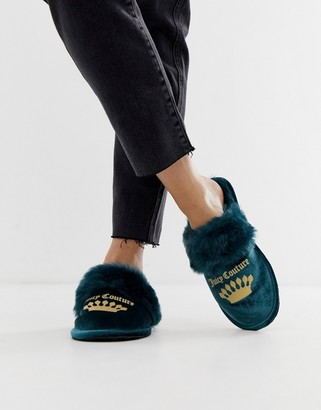 Juicy Couture slippers-Blue
