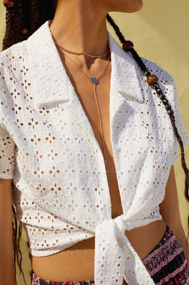 Jennifer Zeuner Jewelry x UO Heart Lariat Necklace