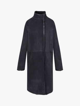 Gerard Darel Electra Sheepskin Coat, Blue