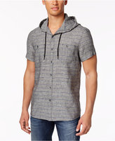 Kenneth Cole Reaction Men's Hooded Striped Shirt