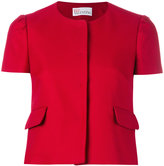 RED Valentino shortsleeved crop jacket - women - Cotton/Polyester/Acetate - 44