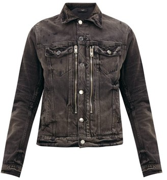 Amiri Mx2 Distressed Denim Jacket - Mens - Black