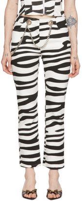 Miaou Black and White Tomma Zebra Jeans
