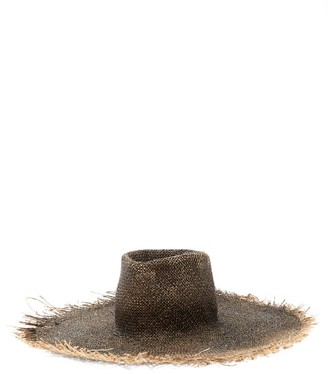Reinhard Plank Hats - Big Nana Frayed Straw Hat - Black