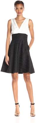 Erin Fetherston Erin Women's Colorblock Teresa Fit and Flare Dress