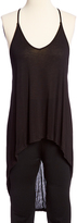 Pure Style Girlfriends Black High-Low Strappy-Back Tank