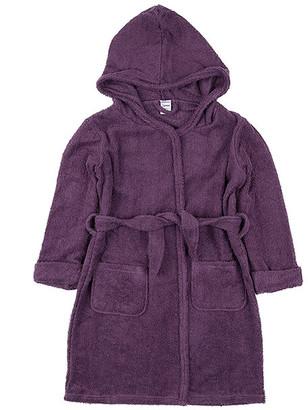 Leveret Girls' Bath Robes Purple - Purple Front-Pocket Tie-Waist Hooded Bathrobe - Infant, Toddler & Girls