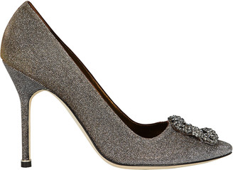 Manolo Blahnik Hangisi Crystal Pumps