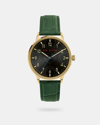 Ted Baker COSCROG Leather croc strap watch