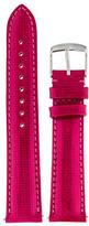 Michele 18MM Miami Dark Pink Patent Leather Watch Strap