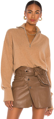 Marissa Webb Wesley Boyfriend Front Zip Sweater