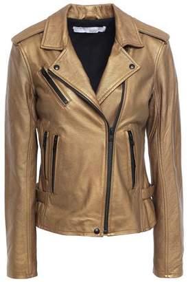IRO Newhan Washed-leather Biker Jacket