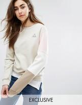 Le Coq Sportif Exclusive To ASOS Tricolor Sweatshirt In Neutrals
