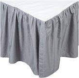 American Baby Company 100% Cotton Percale Crib Dust Ruffle - White