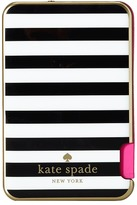 Kate Spade Micro Stripe Resin Slim Battery Bank w/ Captive Lightning Cable for iPhone 6 Cell Phone Case