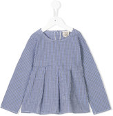 Douuod Kids gingham check pleated blouse