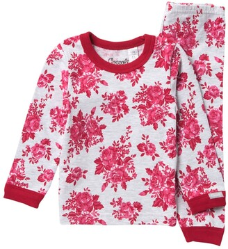 Coccoli Floral Heathered Pajama Set