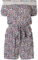 Tory Burch floral off-the-shoulder playsuit