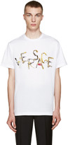 Versace White Belt Logo T-Shirt