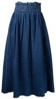 Elastic Waist Denim Skirt - ShopStyle
