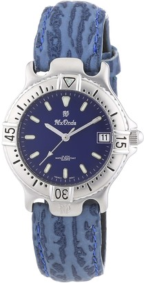 Mx Onda Women's Quartz Watch with Blue Dial Analogue Display and Blue Leather Strap 32-1200-99
