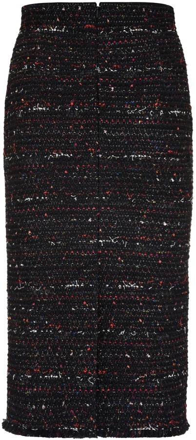 Thumbnail for your product : Alexander McQueen Tweed Sheath Skirt
