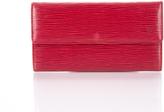 Louis Vuitton Red Epi Leather Sarah Wallet