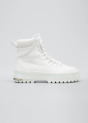 Fenty by Rihanna Lace-Up Hiking Boots, White