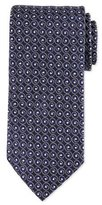 Eton Swirl-Print Silk Tie, Navy