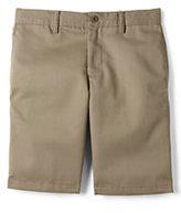 Lands' End Little Boys Slim Cotton Plain Front Chino Shorts-Khaki