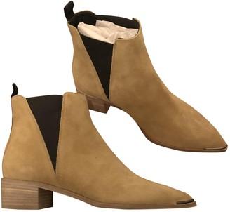 Acne Studios Jensen / Jenny Beige Suede Ankle boots