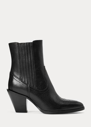 Ralph Lauren Lowrey Leather Cowboy Boot