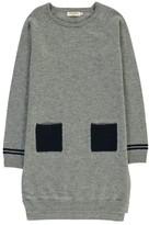 Nice Things Two-Tone Merino Wool Dress with Pockets