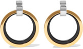 Marni Gold And Silver-tone Enamel Clip Earrings - one size