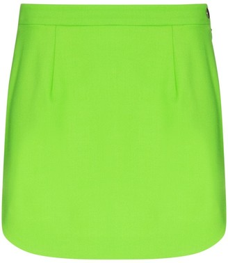 ATTICO High-Waist Wool Mini Skirt