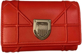 Christian Dior Diorama Red Leather Wallets