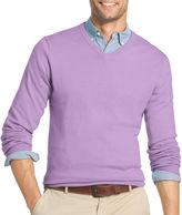 Izod V Neck Long Sleeve Cotton Pullover Sweater