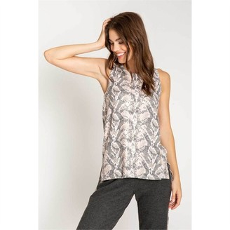 PJ Salvage Animal Instincts Pajama Tank Blush L