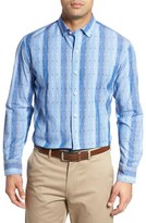 Tommy Bahama Men's Big & Tall Bebel Stripe Sport Shirt