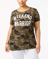 Freeze 24-7 Trendy Plus Size Cotton Weekend Warrior Graphic T-Shirt