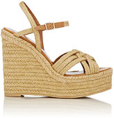 "Saint Laurent Women's ""Espadrille"" Platform Wedge Sandals-Tan"